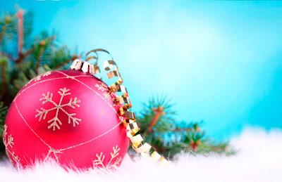 Tarjeta de Navidad Bola de Navidad Adorno