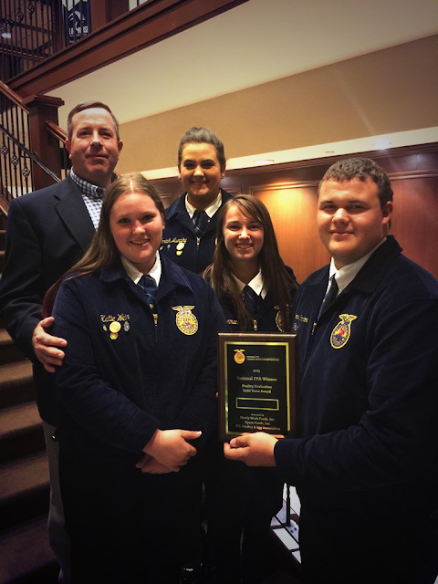 FFA Poultry and Meats teams compete in Louisville