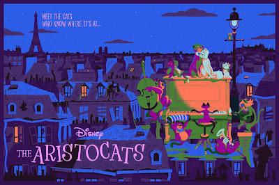 The Aristocats Screen Print by David Merveille x Mondo x Cyclops Print Works