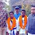 पश्चिम बंगाल से पदक जीतकर लौटे खिलाड़ियों का हुआ स्वागत