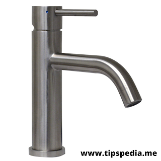 black stainless bathroom faucet