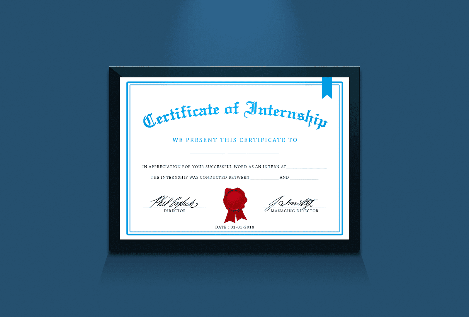Certificate Of Internship Design Idea In Photoshop