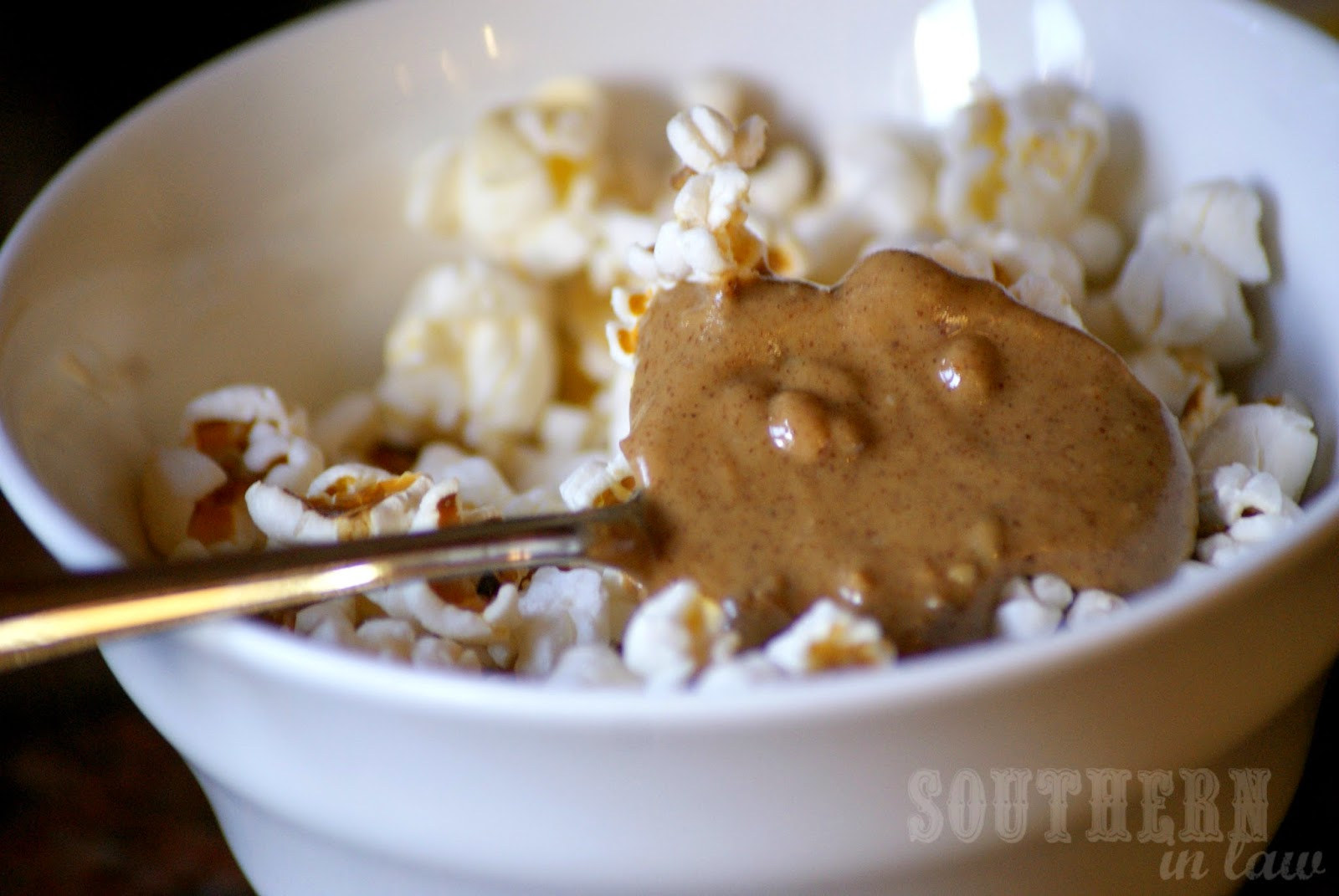 Popcorn with Crunchy Almond Butter