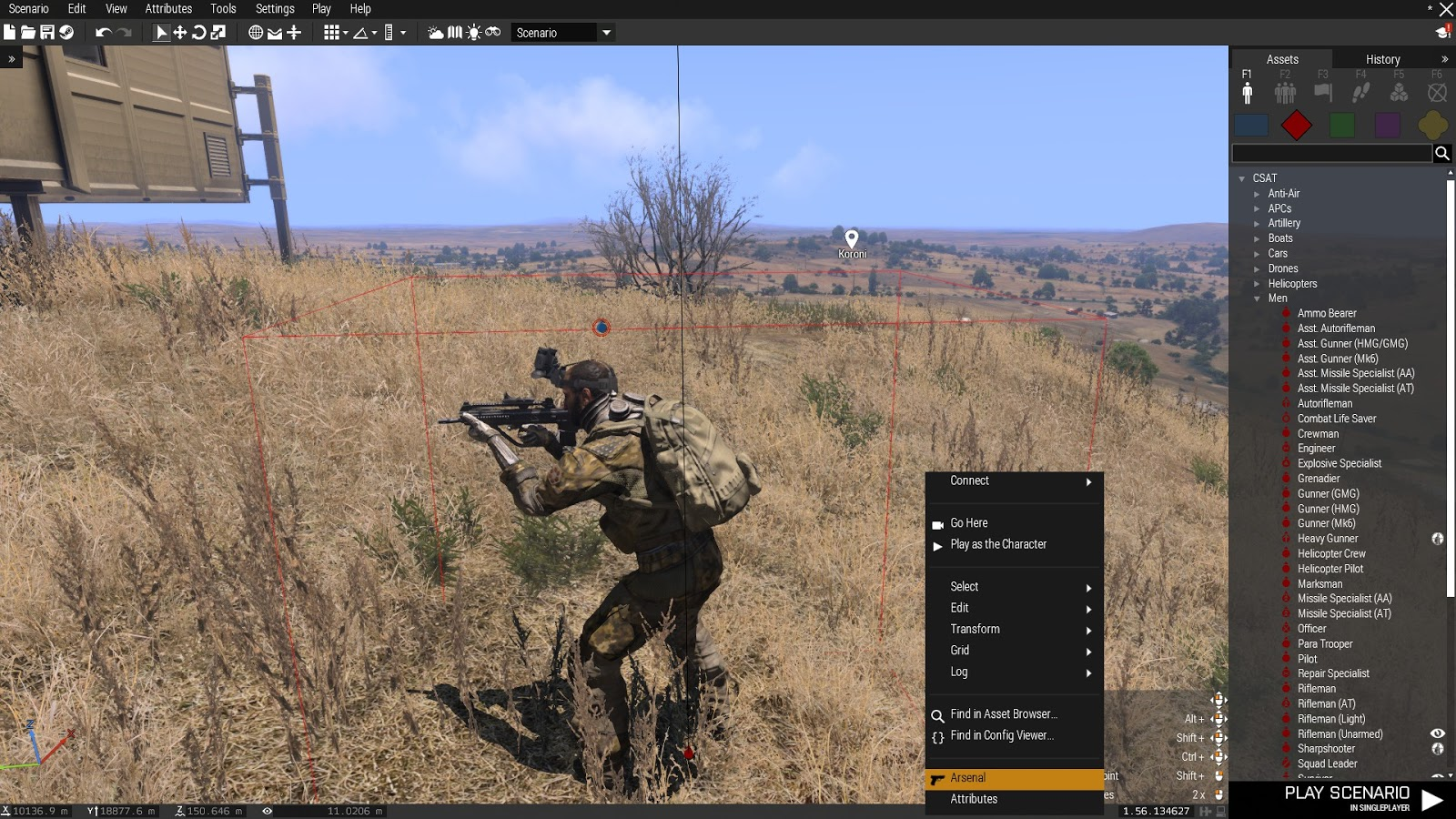 Real and Simulated Wars: ARMA 3 - Eden 3D Editor