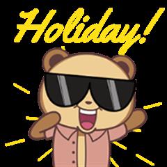 Brown Panda - Holiday!