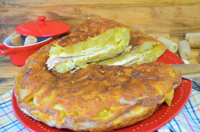 Las delicias de Mayte, tortilla de patatas rellena de jamón y queso, tortilla de patatas, recetas de tortillas de patatas, tortilla de patatas rellenas, tortilla de patatas rellenas originales, tortillas de patatas recetas,