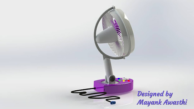 Design of oscillating Table Fan by Mechanical Nib