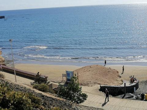 Blick auf den Strand in El Médano