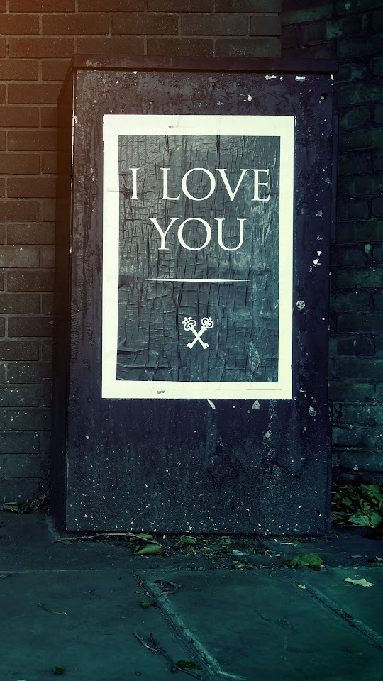 I Love You And Keys Galaxy Note HD Wallpaper