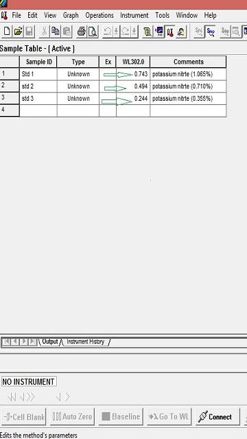 Screenshot of UV Photometric Accuracy