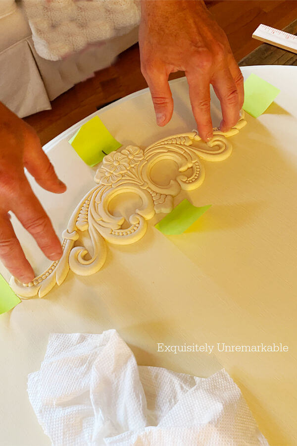 Gluing Furniture Appliques In Place