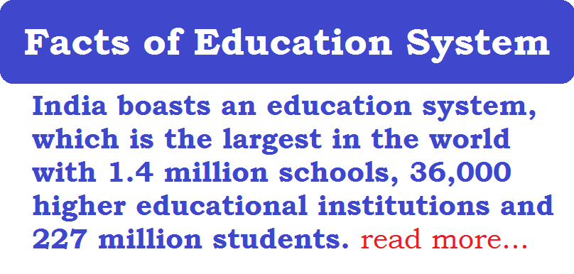 Facts of Indian Education System