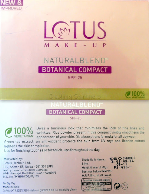Lotus Natural Blend Botanical Compact
