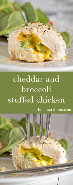 Cheddar and Broccoli Stuffed Chicken