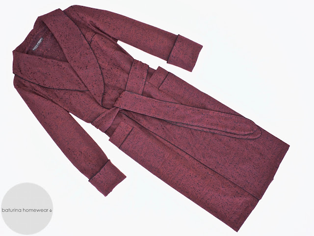mens red paisley robe burgundy smoking jacket cotton dressing gown extra long vintage gentleman housecoat