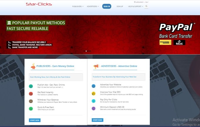 Learn steps to make money online with Starclicks