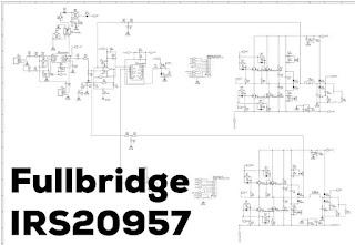 Schematic Full-bridge IRS20957 Class-D Amplifier