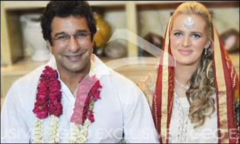 Wasim Akram Weds His Girlfriend Shaniera Thompson Pictures | 468 x 282 jpeg 32kB