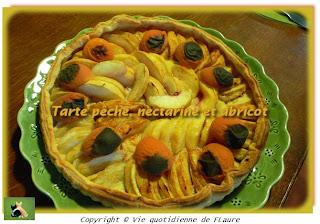 Vie quotidienne de FLaure: Tarte pêche, nectarine et abricot
