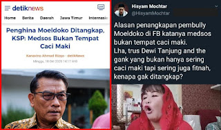 Penghina Moeldoko Ditangkap, Kenapa Kader PDIP Dewi Tanjung Cs Tidak Ditangkap?