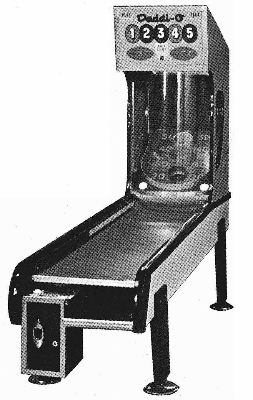 a 1972 arcade game, Daddi-O, photograph