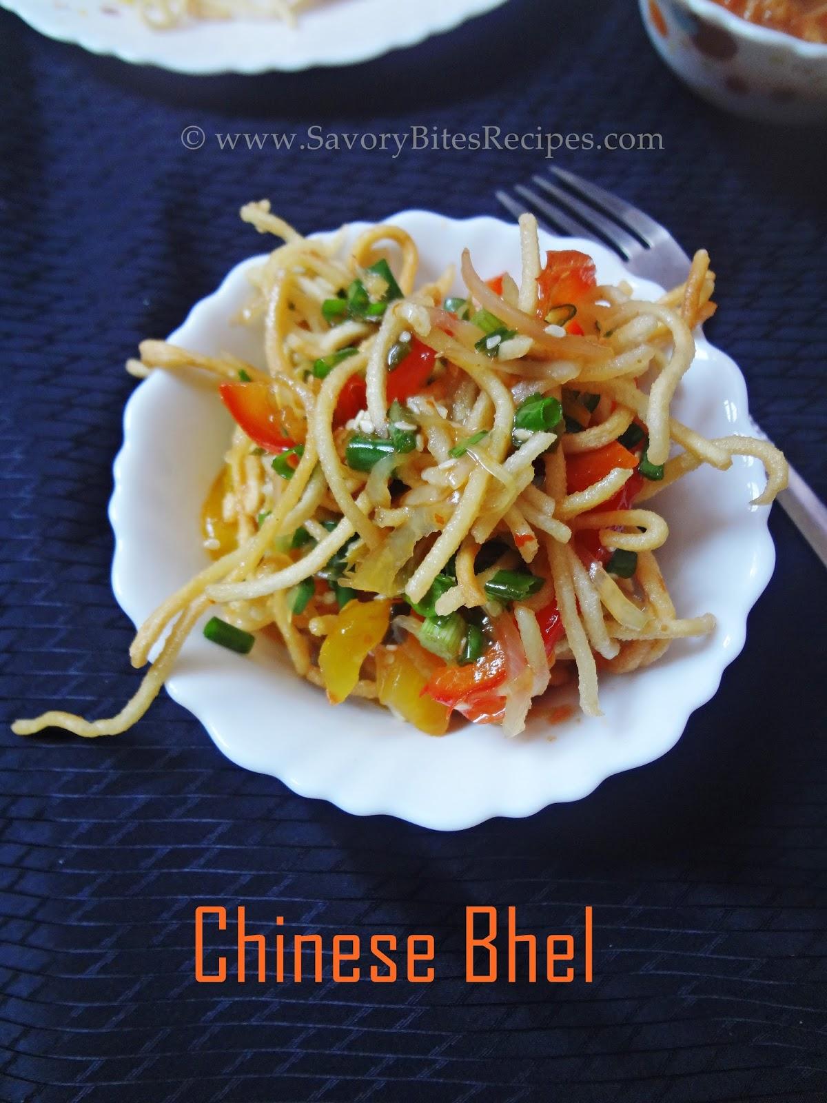 chineses bhel Indo-Chinese Vegetarian