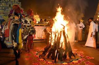 The Bhogi Mantalu-Bonfire