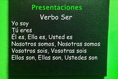 cuadro con presentaciones en español