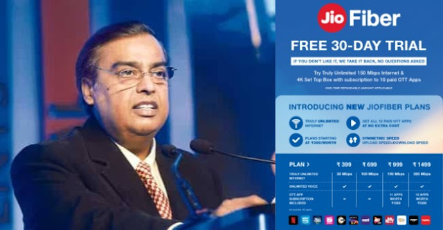 New Jio Fiber plan offers 30 days free trial for everyone