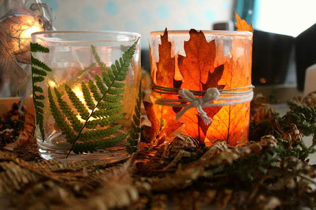 autumn home decor tealights