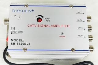 Splitter dilengkapi penguat sinyal tv