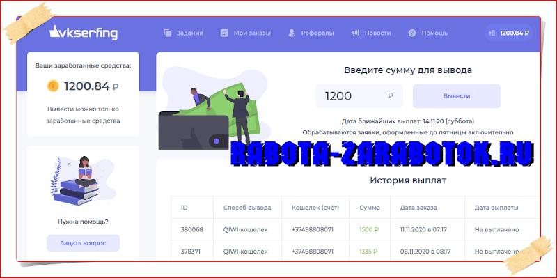 О заработке на vkserfing.ru