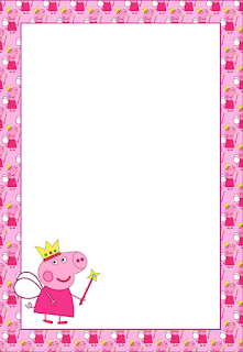 Peppa Pig Free Printable Frames, Invitations or Cards. | Is it for ...