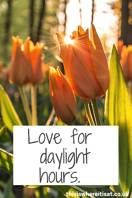Love for daylight hours
