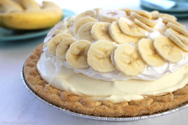 Easy Banana Cream Pie #desserts #cakerecipe #chocolate #fingerfood #easy