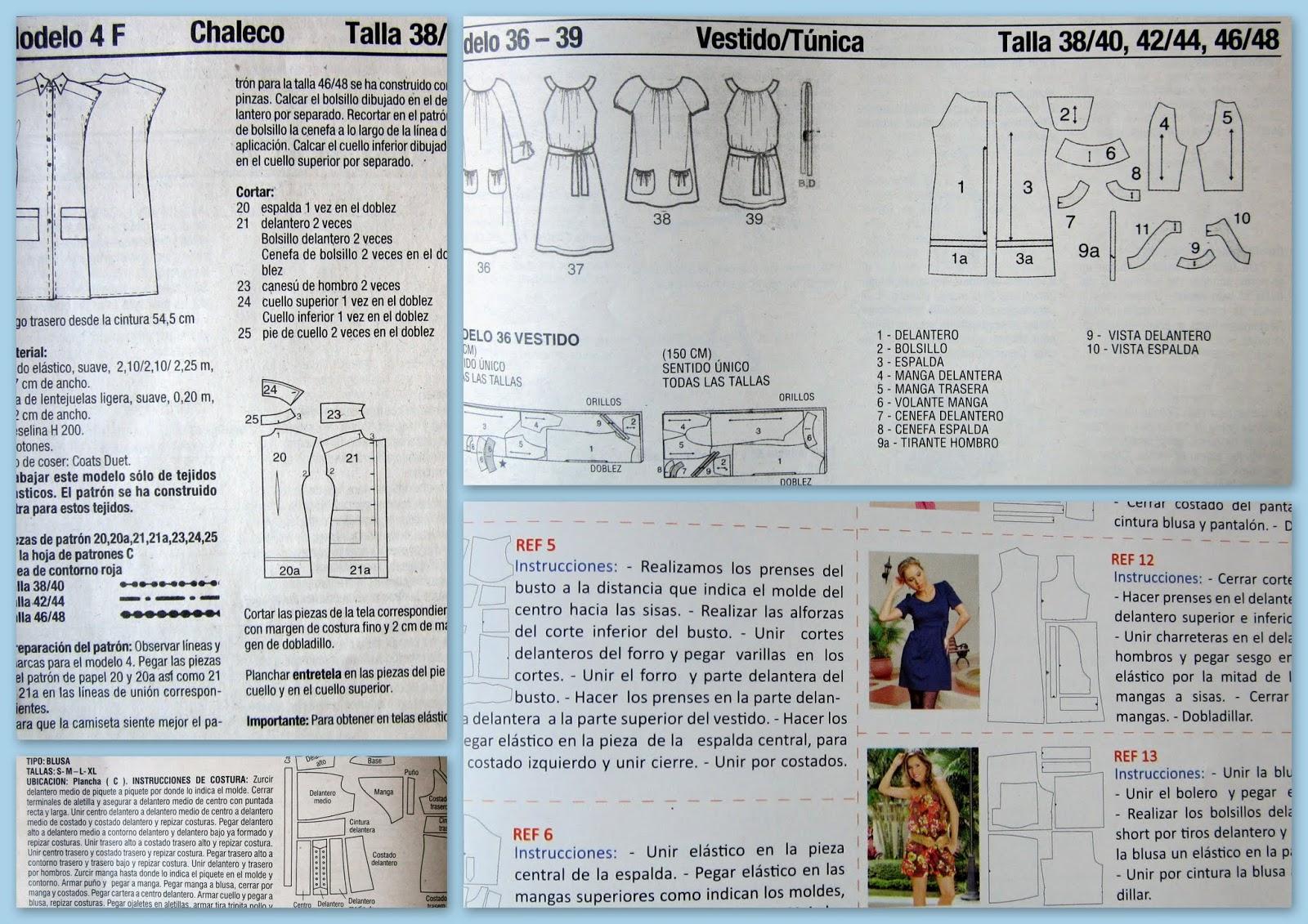 Revistas con moldes de costura y patrones comerciales