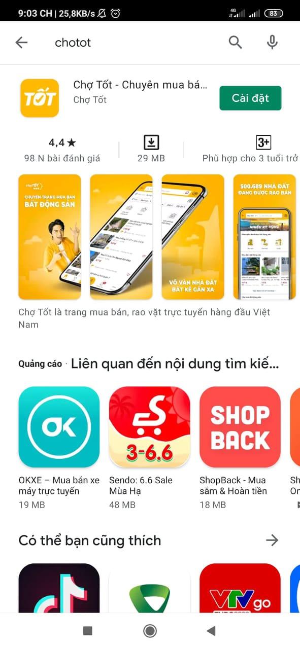 Tải app Chợ Tốt   Ứng dụng chuyên mua bán online trên ChoTot.Com c