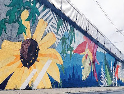 Harrisburg Mural Fest - Floral Wall Mural on Paxtang Ave