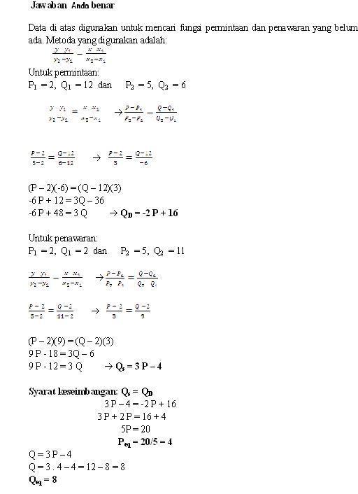 Soal Ujian Ut Manajemen Espa4122 Matematika Ekonomi Dilengkapi Kunci Jawaban Soalut Com