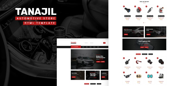 Tanajil - Automotive Store HTML Template