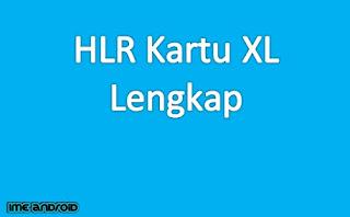 Kode wilayah nomor XL