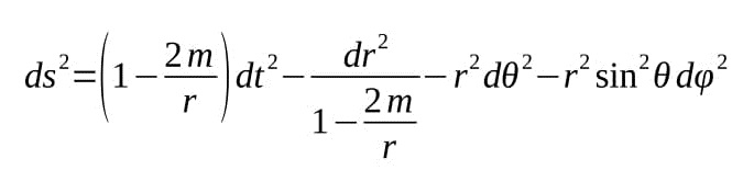 Note That When M0 The Metric Reduces To Minkowski In Spherical Coordinates