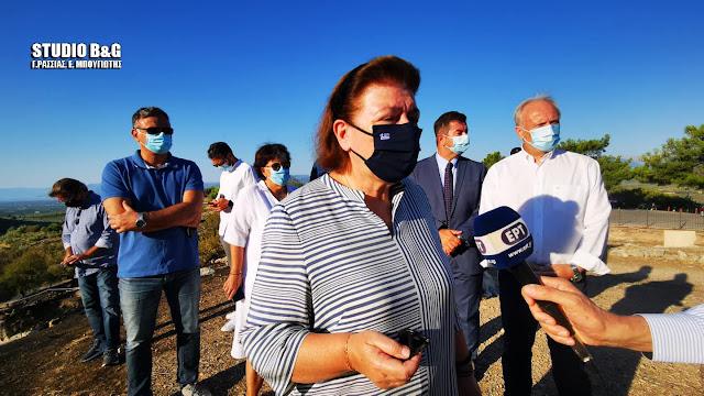 Τι αναφέρει η Υπουργός Πολιτισμού για την υπογραφή της σύμβασης για πυρόσβεση στις Μυκήνες