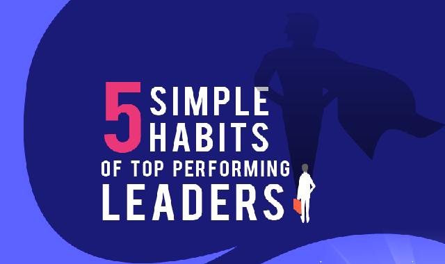 5 Simple Habits of Top Performing Leaders #infographic