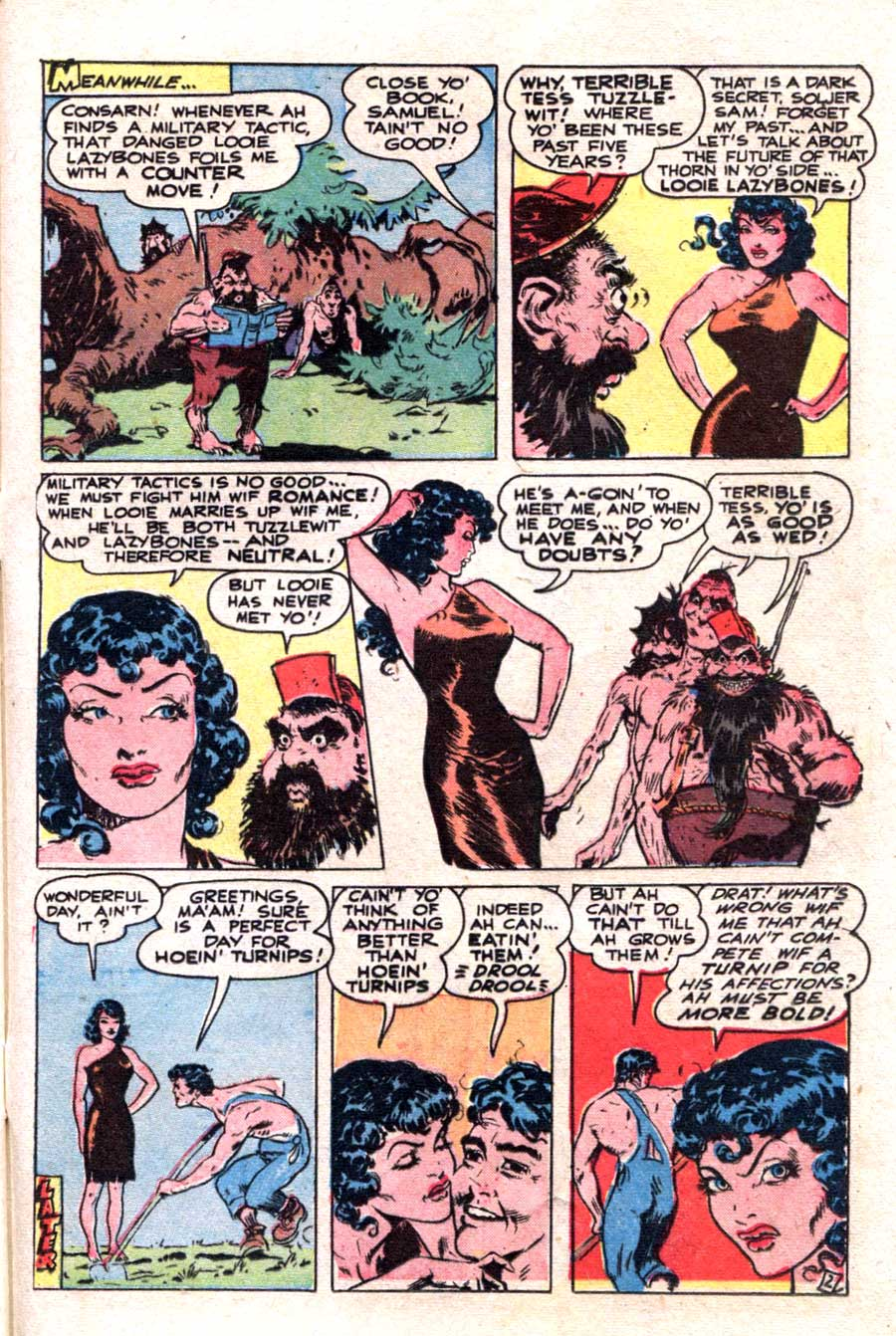 Thrilling Comics #73 golden age 1940s comic book page art by Frank Frazetta