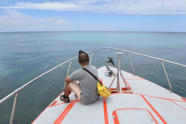 Aboard a yacht sailing the waters of Calayan Island