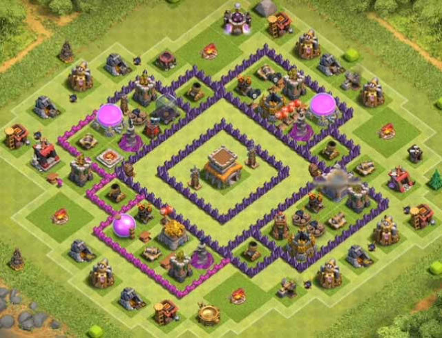 Base Town Hall 8 Clash of Clans Trophy