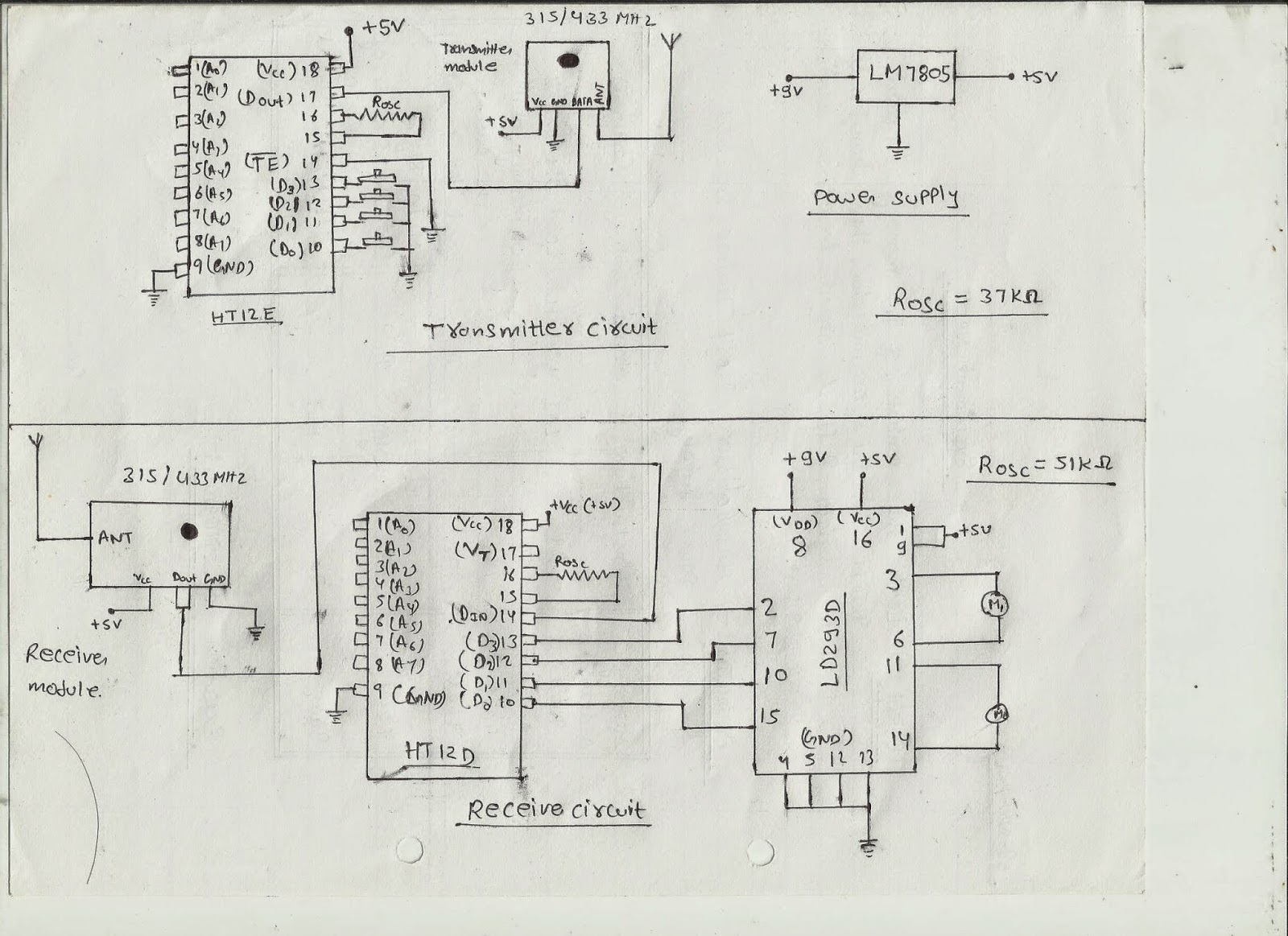 hight resolution of  remote control circuit diagram electronics project how to make a remote control car