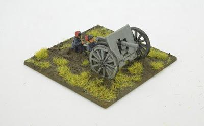 2 Field Artillery pieces & 4 crew models.