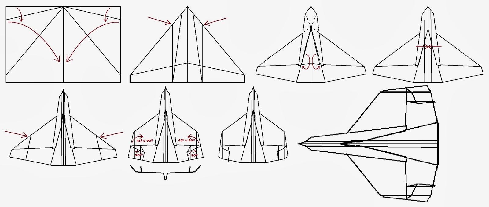 Avión de papel Wing 50